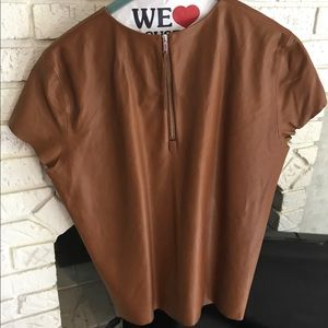 COACH leather shirt